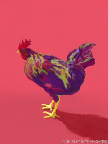 FAUVE ROOSTER