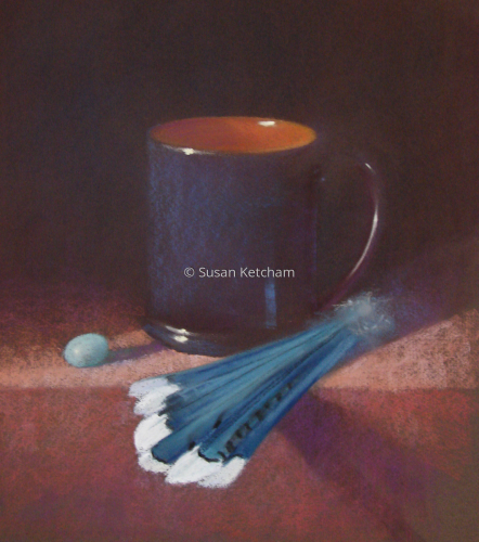 Redware and Robin's Egg by Susan Ketcham, PSA