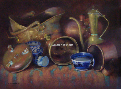Blue Tea by Susan Ketcham, PSA