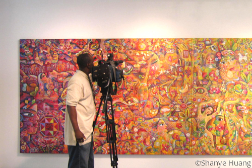 CTV reporters at Shanye Huang's Solo exhibition (large view)
