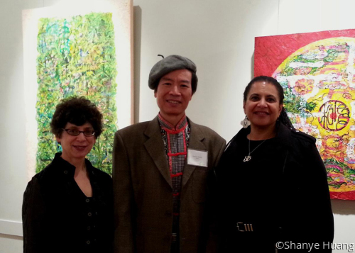 Artist with Curator Michele Cohen,PhD & CEO Suzan e. Jenkins (large view)