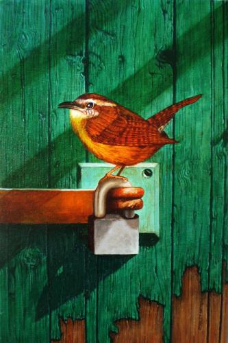 Wren on Lock by Stanley Matheny