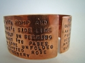 Handstamped Copper Cuff (thumbnail)