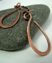 Copper Tear Earrings (thumbnail)