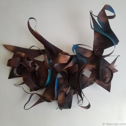 "Welded Wall Art by Artist Sarah Mulligan, ""The Entertainer"""