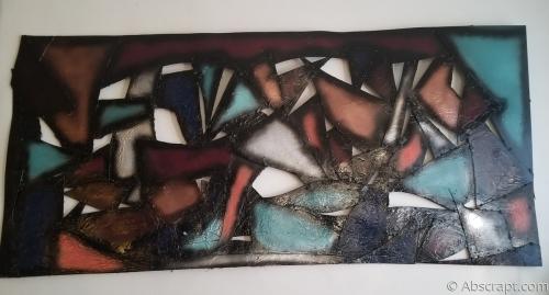 Abstract Metal Wall Art by Artist Sarah Mulligan ,