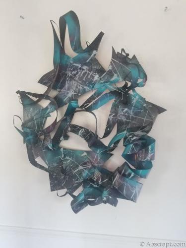 """Metal sculpture """"Infinite Space"""" by Sarah Mulligan"""