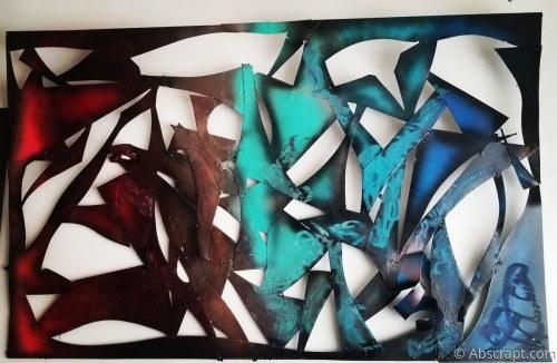 Large Metal Wall Sculpture by Artist Sarah Mulligan ,