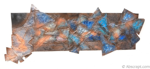 """""""Free Fallin out into Nothing"""" large metal wall art by sarah mulligan"""