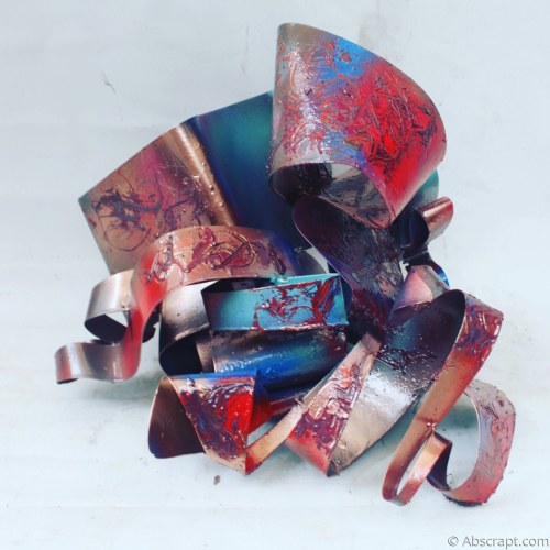"""Metallic Swirls "" Metal Sculpture by"