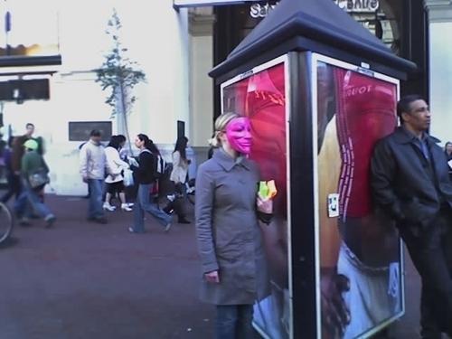 Masked Woman on Street