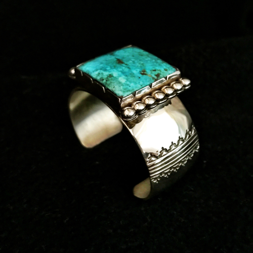 Morenci Turquoise Bracelet by Sidney Nez Jr. Jewelry