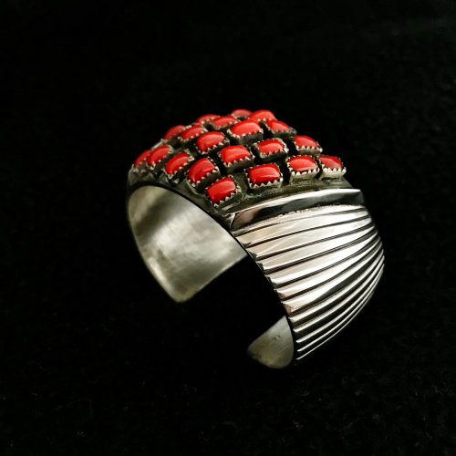 Coral Bracelet by Sidney Nez Jr. Jewelry
