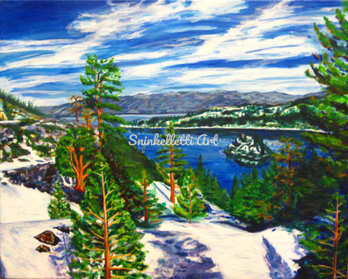Emerald Bay Spring by Artist Nick Sninkelletti - Official Site