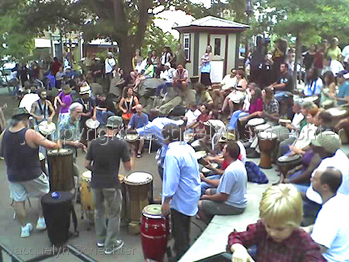 Friday Evening Drum Circle (large view)