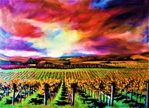 Fiery Vineyard
