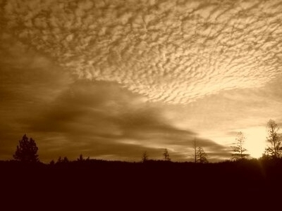 clouds are in sepia
