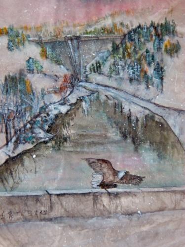 eagle over the dam