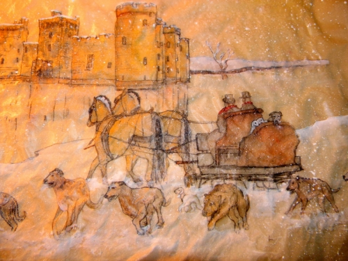 sleigh ride near castle