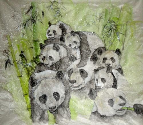 so many panda together