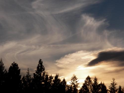 color through the evening sky