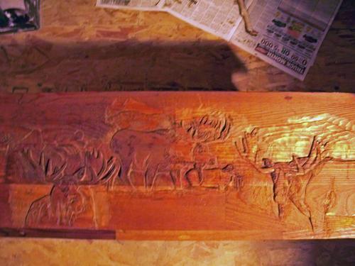 moose on wood