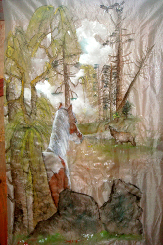 willow and the elk on silk