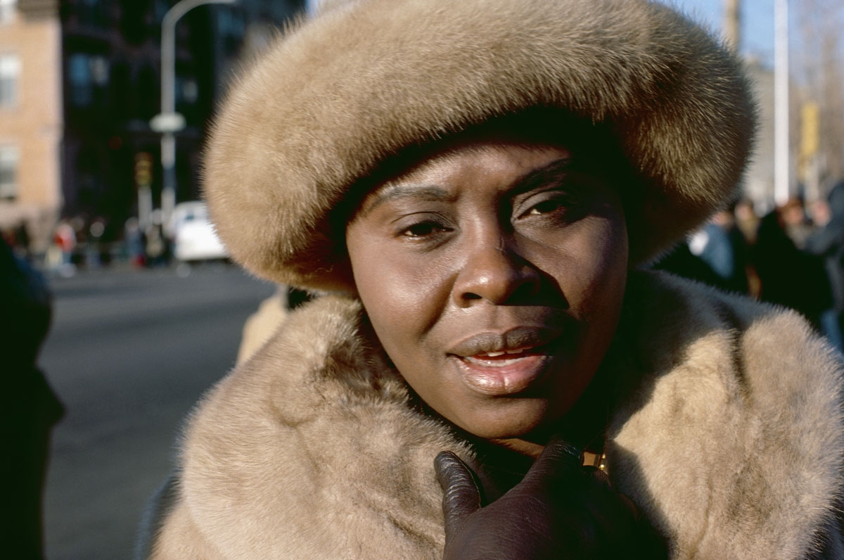 Woman in Fur Hat, Philadelphia, PA, 1977 (large view)