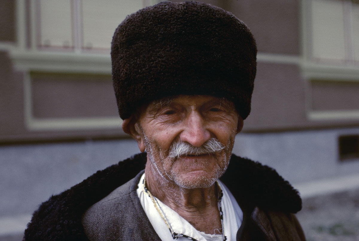 Man in Fur Hat, Romania, 1982 (large view)
