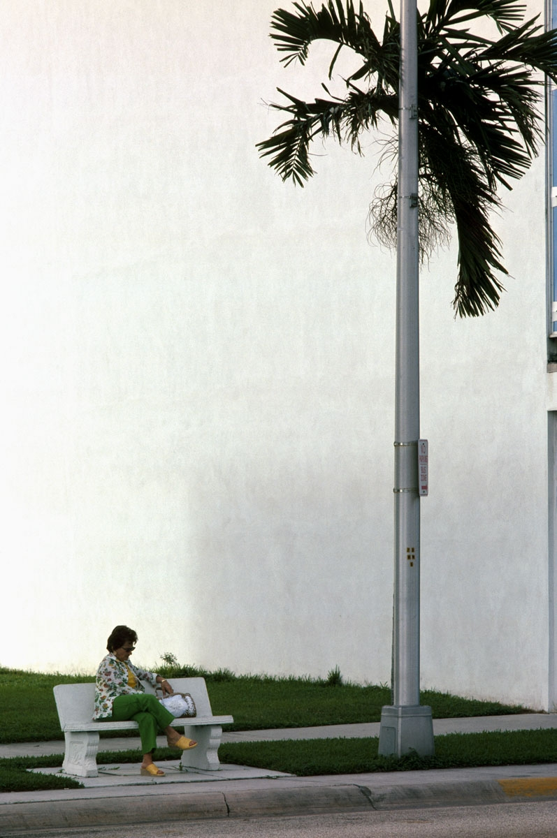 Woman on Bench, Miami, 1975 (large view)
