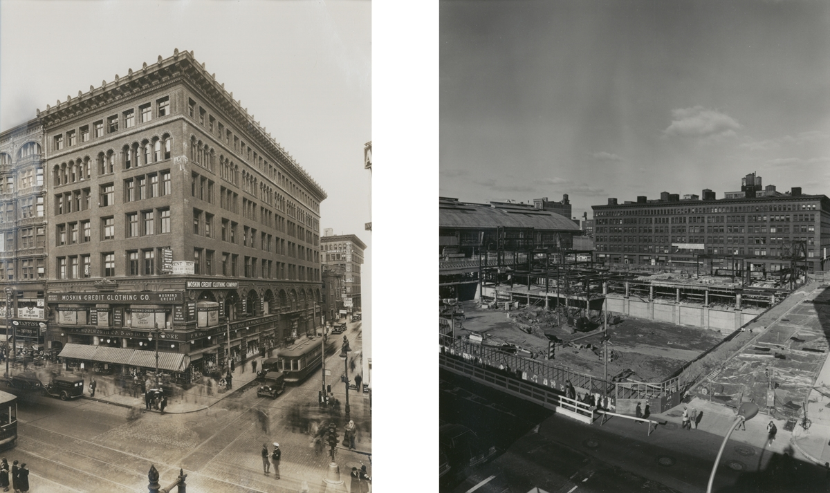10th & Market Streets (Now the Site of the Gallery), Philadelphia, PA (large view)