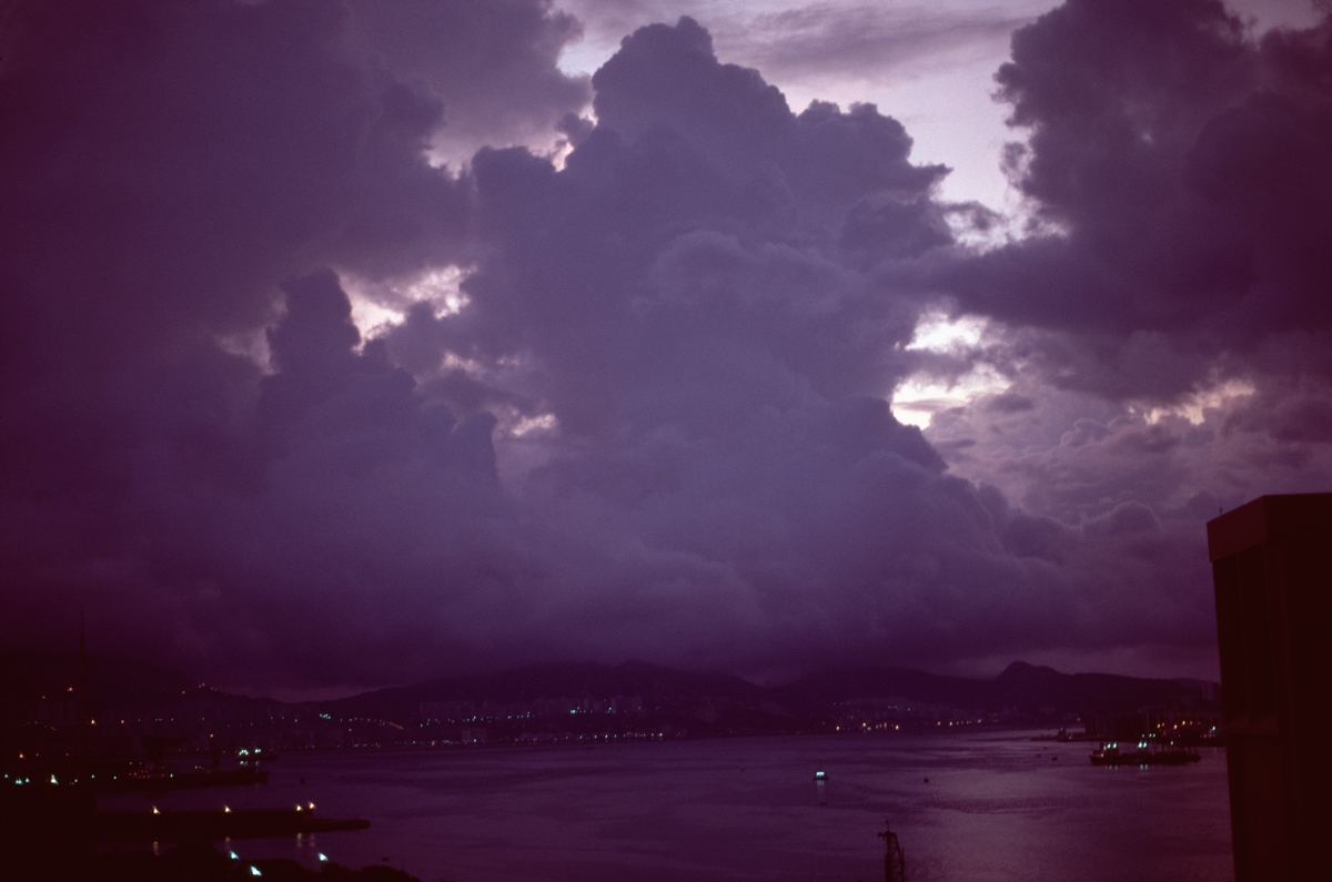 Sunrise, Hong Kong Harbor, 1977 (large view)