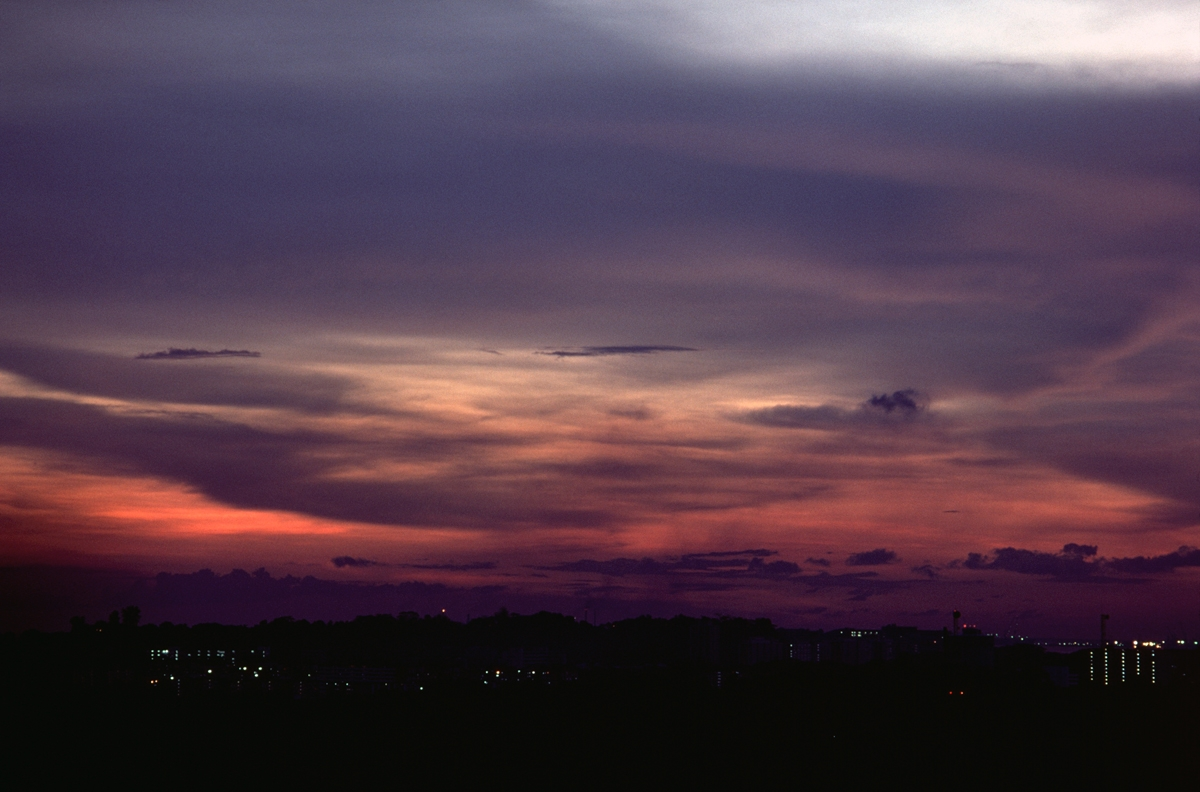 Sunset, Singapore, 1977 (large view)
