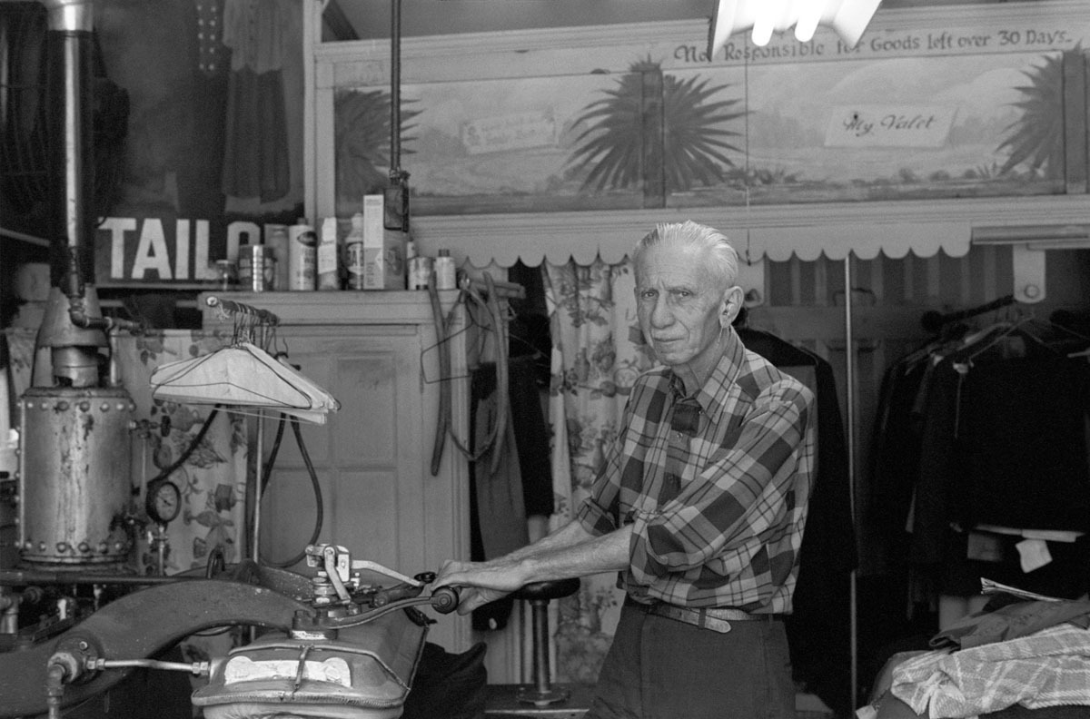 Tailor, West Philadelphia, PA, Spring 1971 (large view)