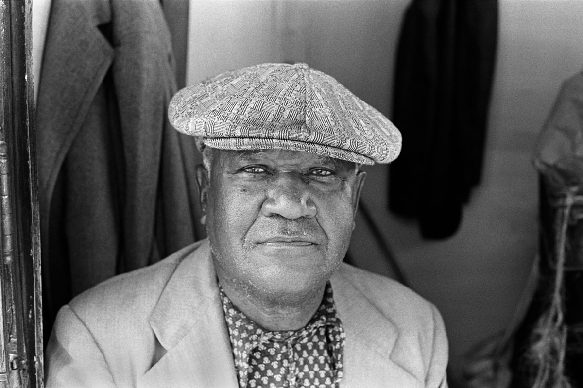Peachy, Who Sold Newspapers from His Wooden Kiosk at 36th and Market Streets, Philadelphia, PA, October 1973 (large view)