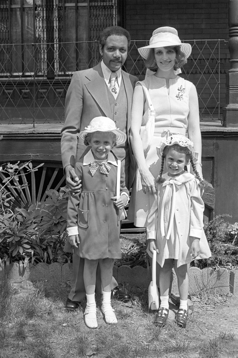 Glen Torraine Family (Our Next Door Neighbors in Powelton), on Their Way to the Easter Parade, Philadelphia, PA, April 18, 1976 (large view)