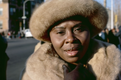 Woman in Fur Hat, Philadelphia, PA, 1977