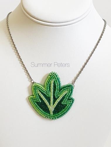 Ojibwe floral necklace.