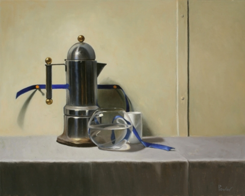 COFFEE POT WITH RIBBON