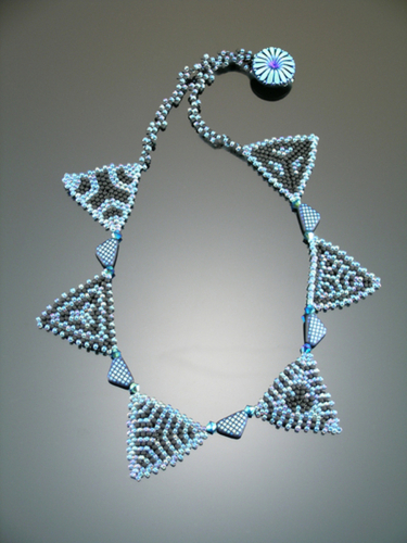 Beaded Variations on a Triangle (large view)