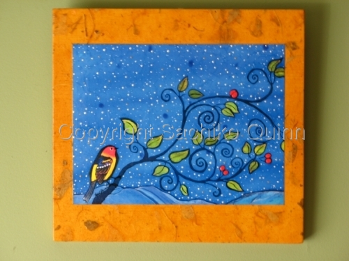 """Tanager's Night"" reproduction wall hanging"
