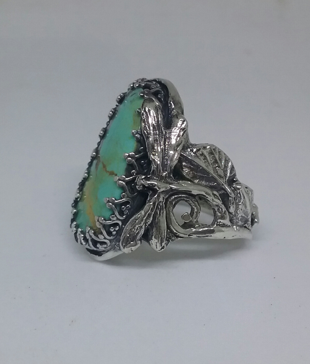Dragonfly Turquoise Ring (large view)