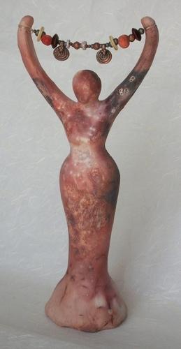 Beaded Goddess - spiral