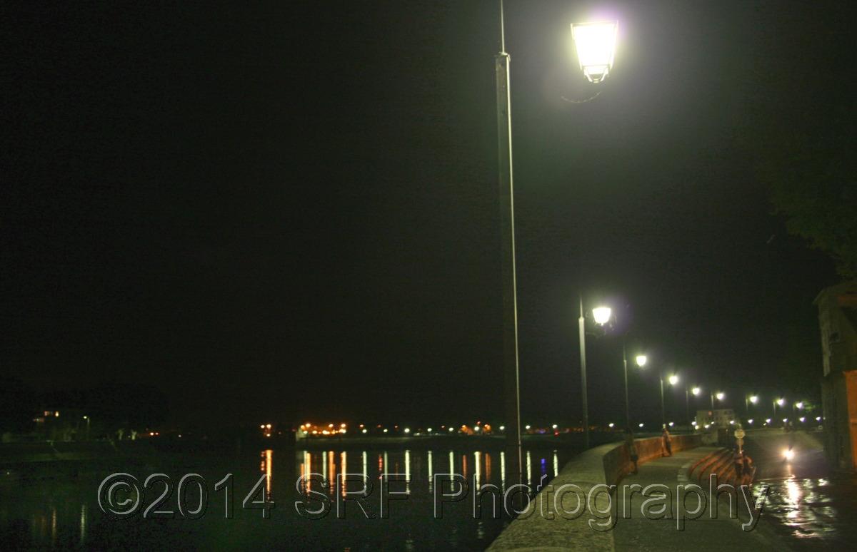 Rhone River in Arles at Night (large view)