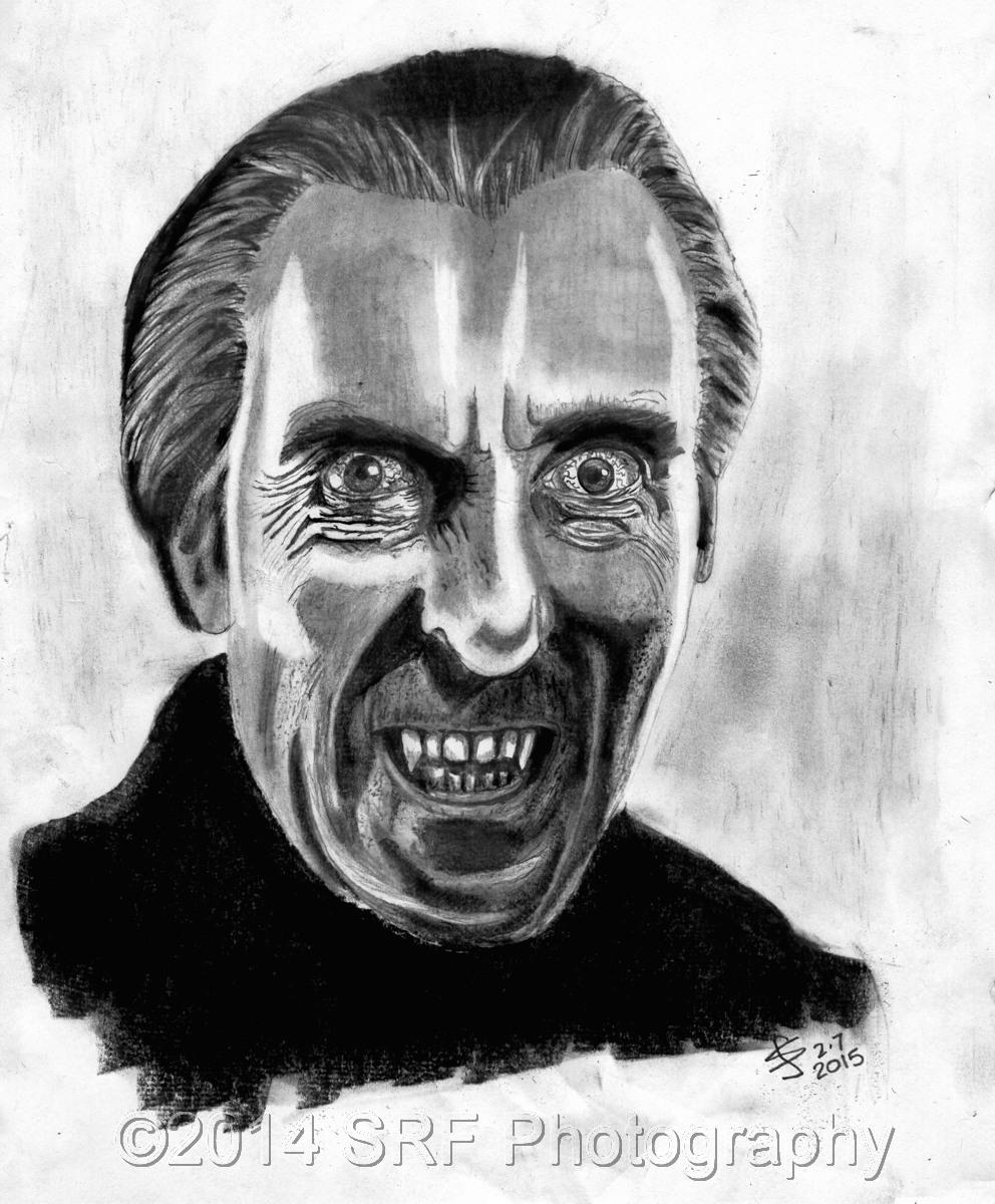 Lee as Dracula (large view)