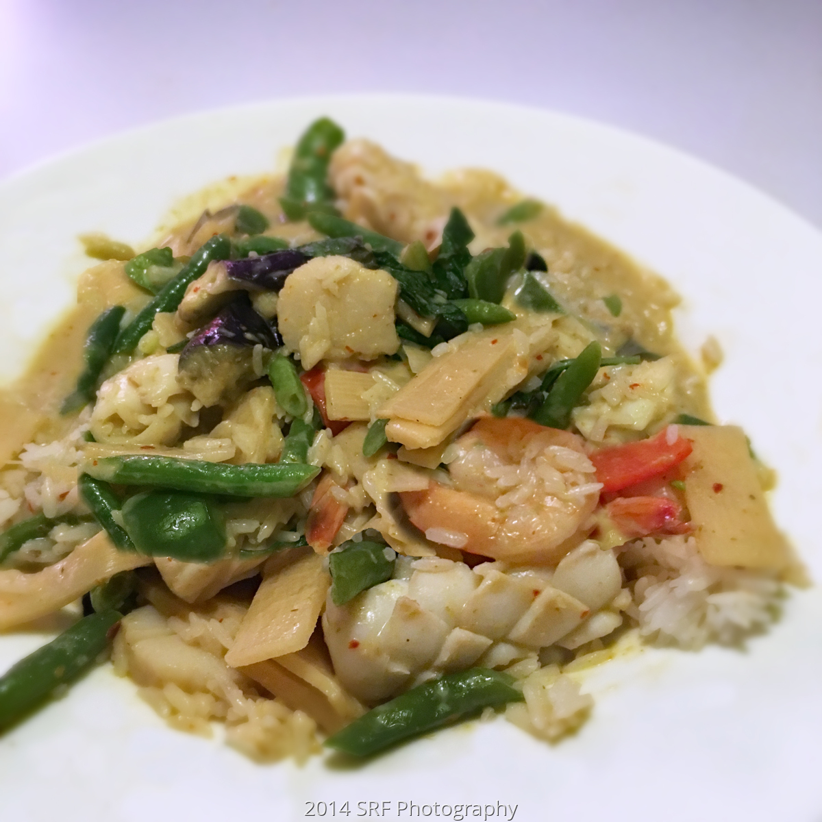 Thai Seafood Green Curry (large view)