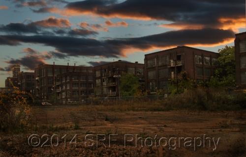 Sunset On The Brick Hulks by SRF Photography