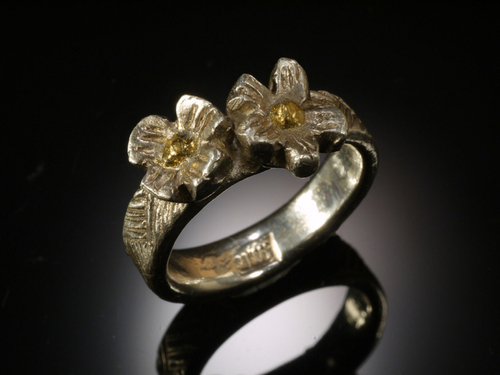 Dogwood Flower Ring by Suzanne Reuben Jewelry Design