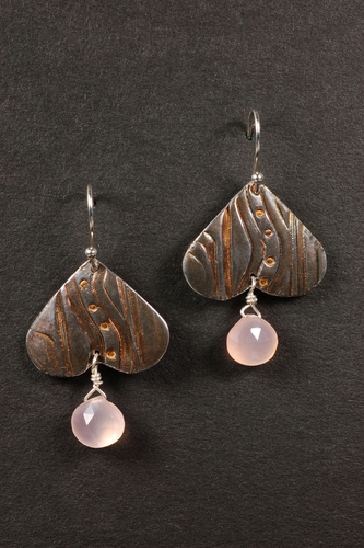 Pink Chalcedony Drops by Suzanne Reuben Jewelry Design