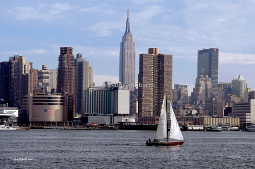 Sailing Down The Hudson River, New York